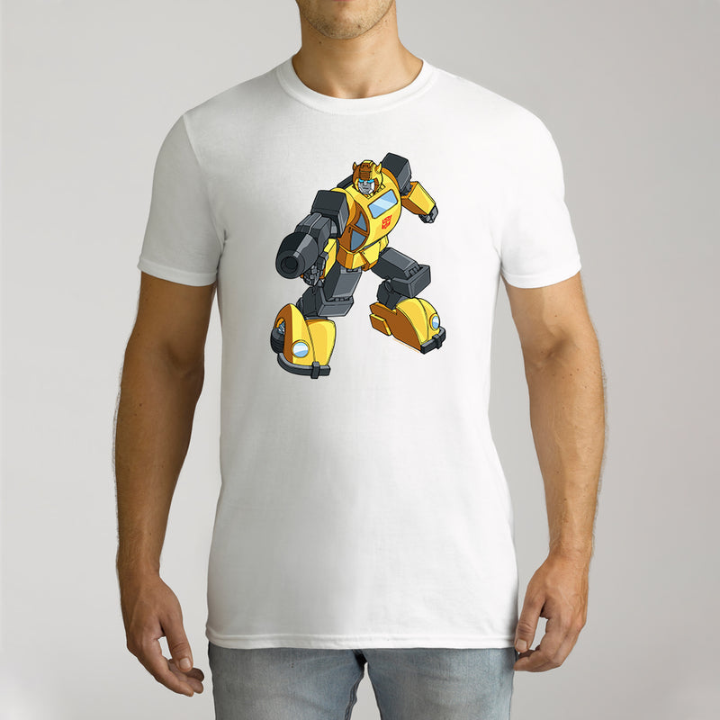 Twidla Men's Transformers Bumblebee On The Move Cotton Tee