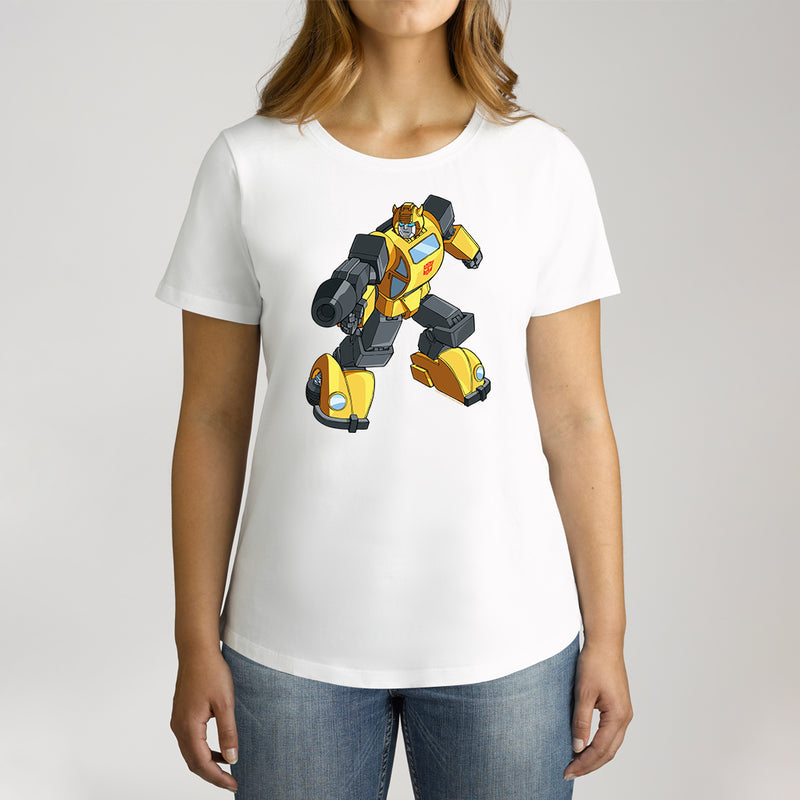 Twidla Women's Transformers Bumblebee On The Move Cotton Tee