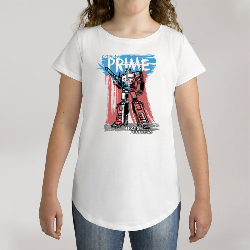 Twidla Girl's Transformers Prime Cotton Tee