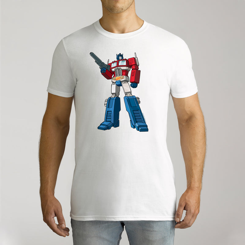 Twidla Men's Transformers Optimus Prime Standing Strong Cotton Tee