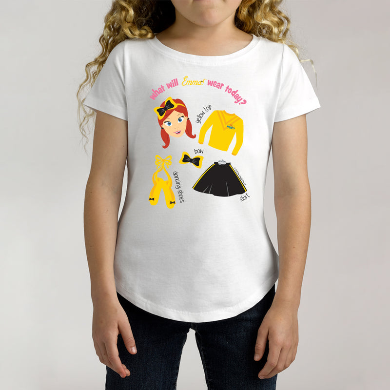 Twidla Girl's The Wiggles What Will Emma Wear Today? Cotton Tee