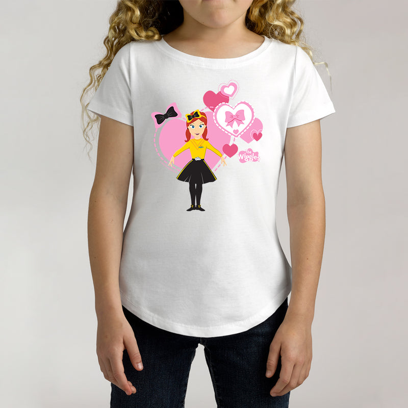 Twidla Girl's The Wiggles Emma Pink Hearts Cotton Tee