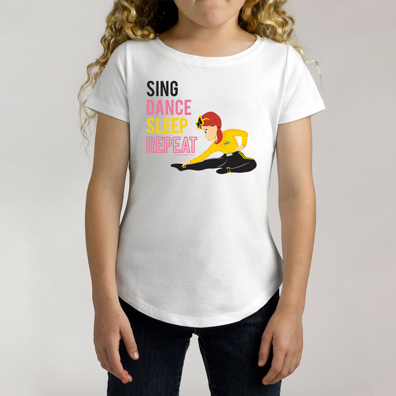 Twidla Girl's The Wiggles Sing Dance Sleep Repeat Cotton Tee
