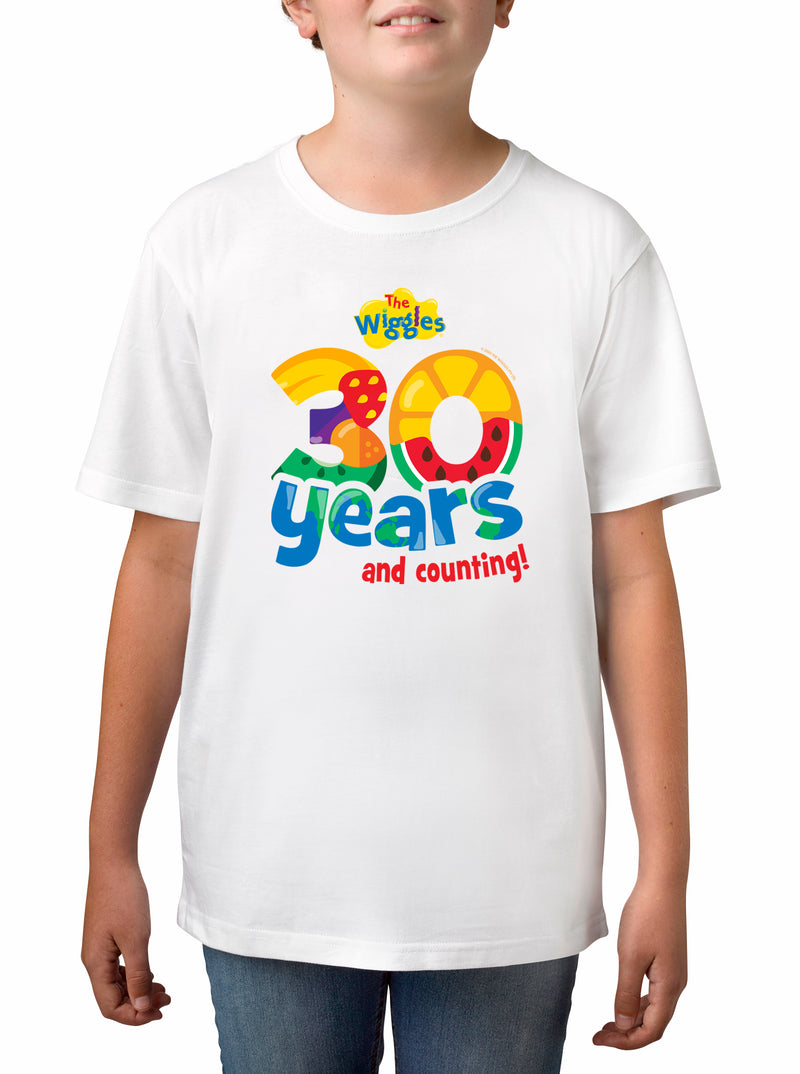 Twidla Boy's The Wiggles 30 years Cotton T-Shirt