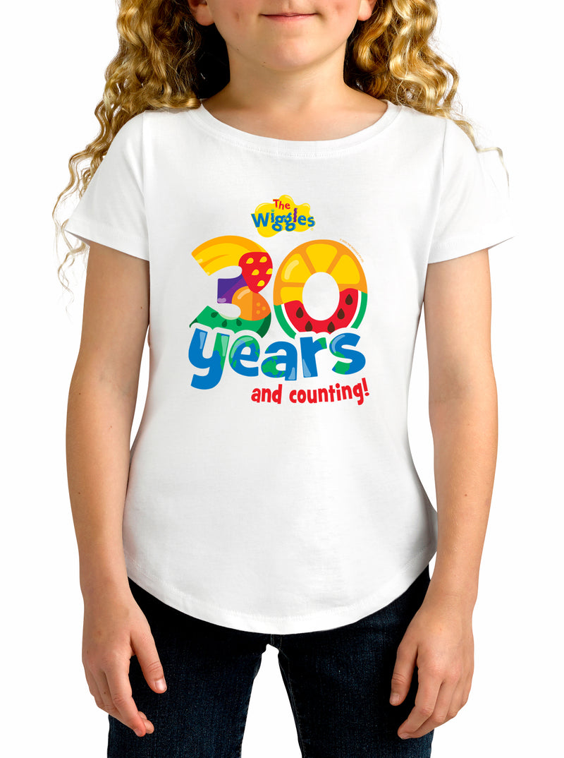 Twidla Girl's The Wiggles 30 years Cotton T-Shirt