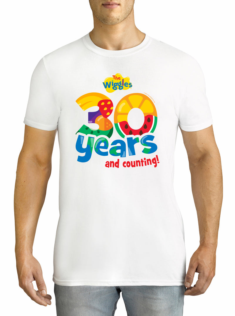 Twidla Men's The Wiggles 30 years Cotton T-Shirt