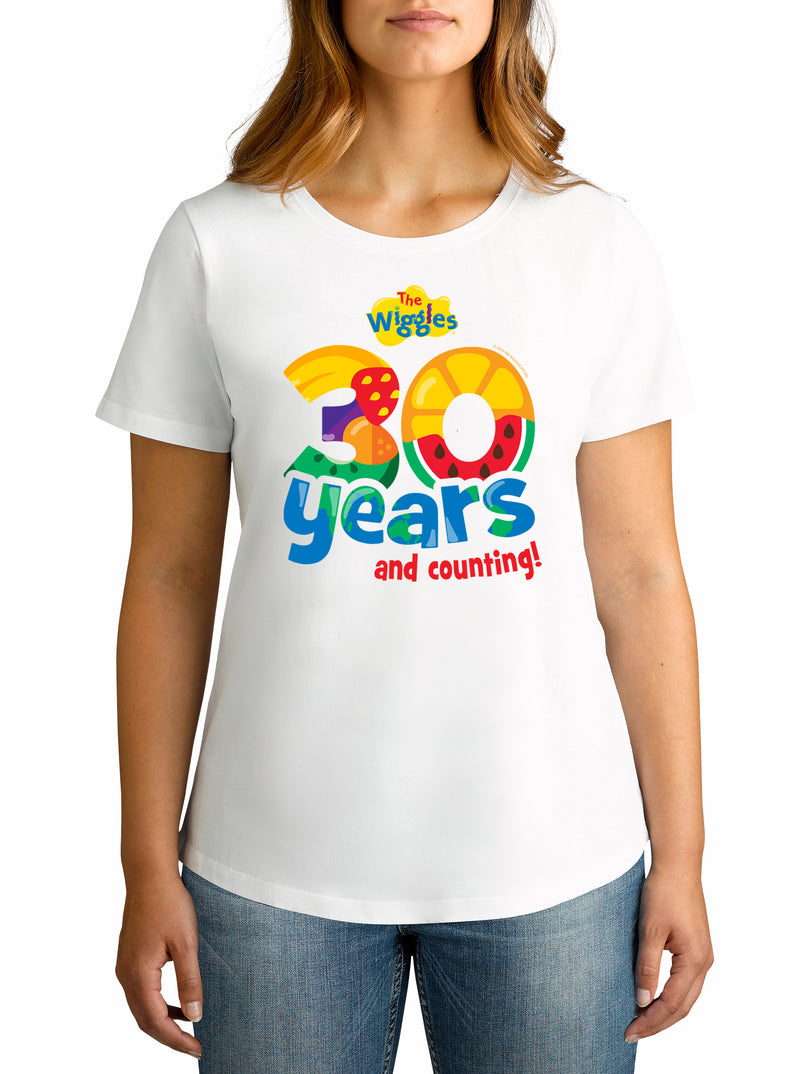 Twidla Women's The Wiggles 30 years Cotton T-Shirt