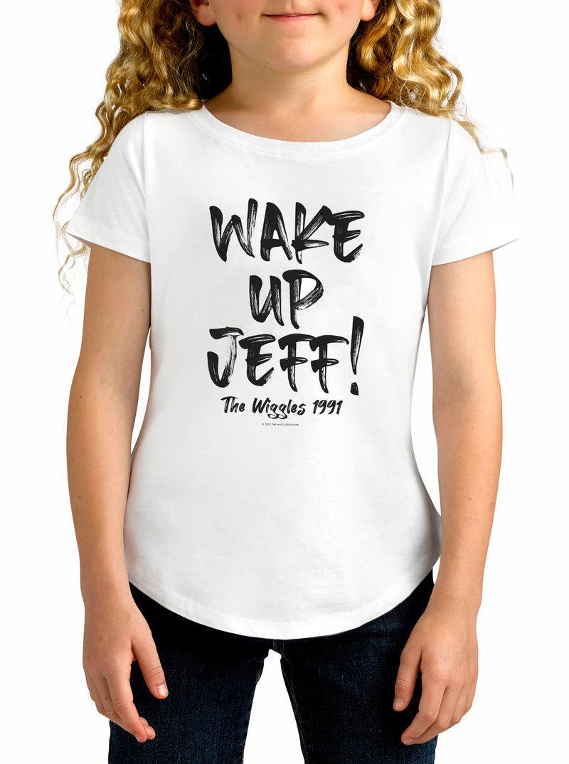 Twidla Girl's The Wiggles Wake Up Jeff! Cotton T-Shirt