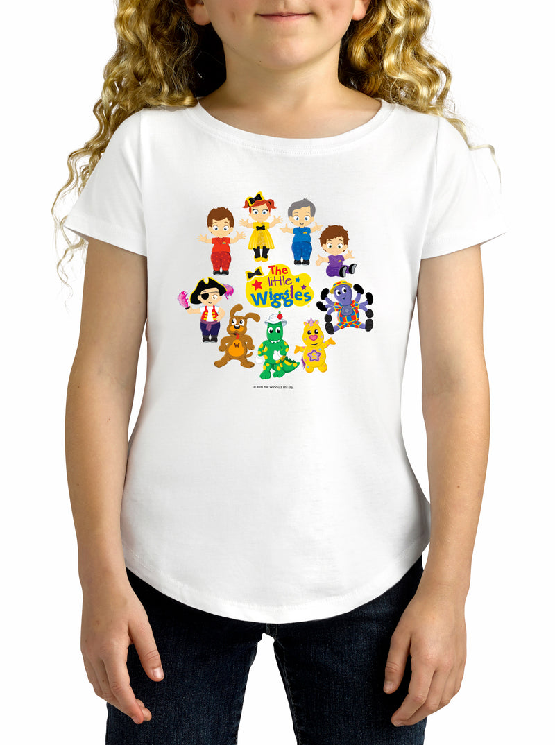 Twidla Girl's The Wiggles Little Wiggles Cotton T-Shirt
