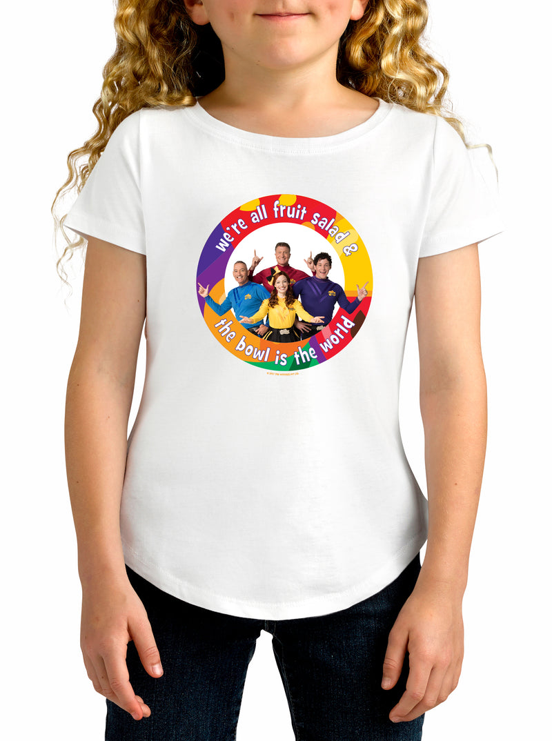 Twidla Girl's The Wiggles World Cotton T-Shirt