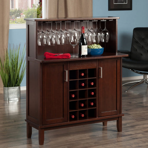 Winesome  Beynac 15 Bottles Wine Bar Cappuccino - Black Out