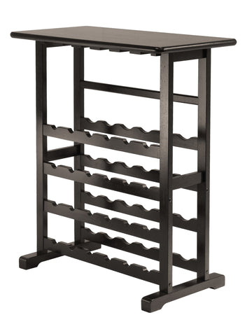 Winesome Vinny 24-Bottle Wine Rack Espresso - Black Out