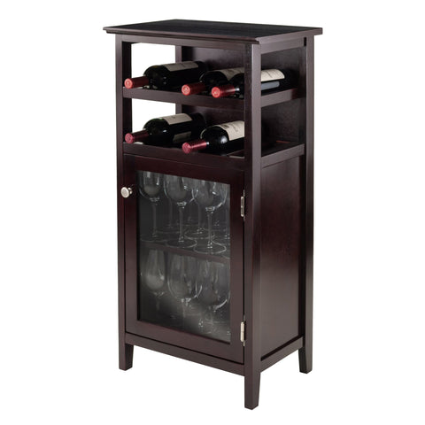 Winesome Alta Wine Glass Door Cabinet - Black Out