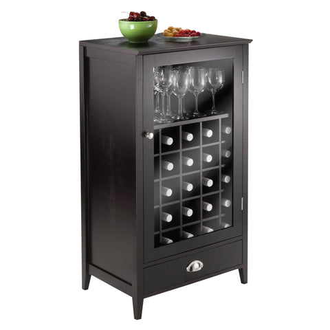 Image of Winesome Bordeaux Modular Wine Cabinet 25-Bottle Shelf - Black Out