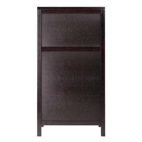 Winesome Ancona Modular Wine Cabinet with Glass Rack & 20-Bottle - Black Out
