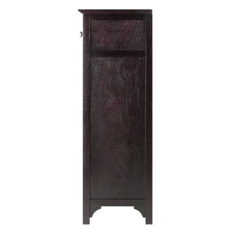 Winesome Ancona Modular Wine Cabinet with One Drawer & 24-Bottle - Black Out
