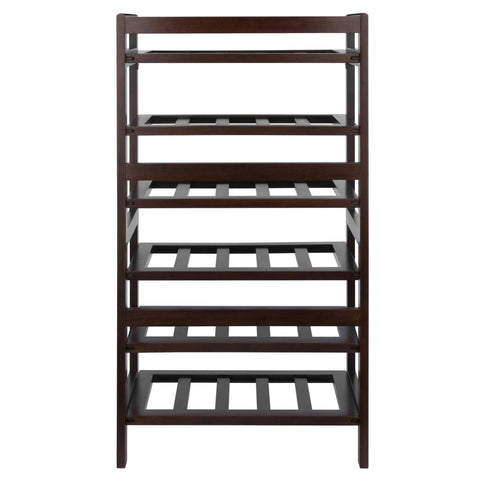 Winesome Silvi 30-Bottle Wine Rack with 6-Tier - Black Out