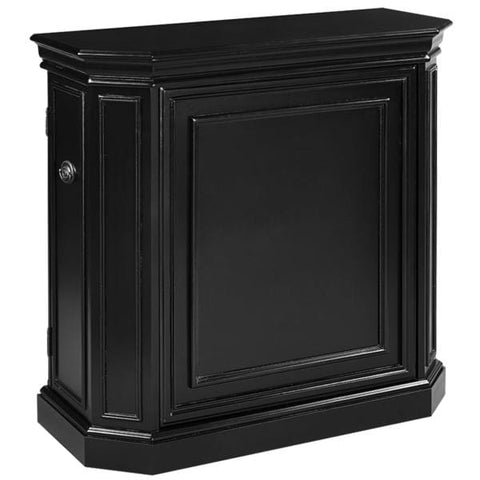 RAM Game Room Bar Cabinet With Spindle in English Tudor / Black / Chestnut / Cappuccino / Sliver / Antique White - Black Out