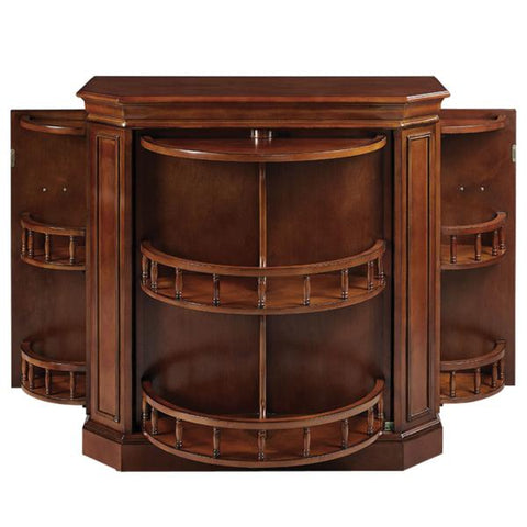 RAM Game Room Bar Cabinet With Spindle in English Tudor / Black / Chestnut / Cappuccino - Black Out