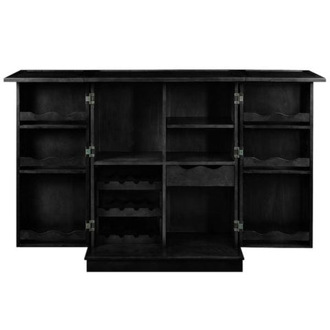 RAM Game Room Portable Folding Cabinet in Black, Cappuccino, Chestnut and English Tudor - Black Out