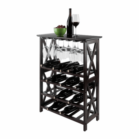 Winesome Rio Wine Rack with 24-Bottle and Glass Hanger