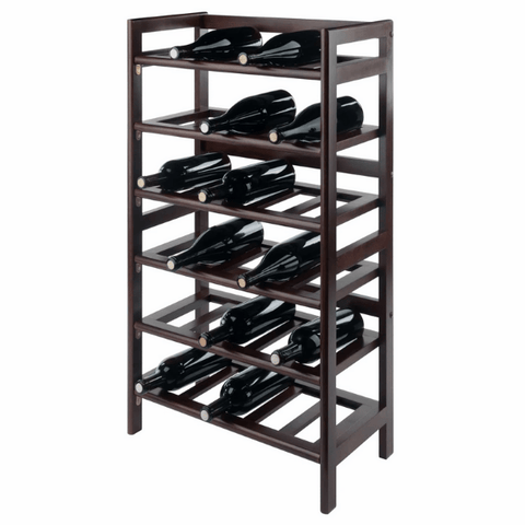 Winesome Silvi 30-Bottle Wine Rack with 6-Tier