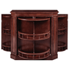 RAM Game Room Bar Cabinet With Spindle in English Tudor / Black / Chestnut / Cappuccino / Sliver / Antique White
