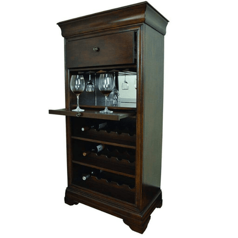 RAM Game Room Bar Cabinet with Wine Rack - Black Out