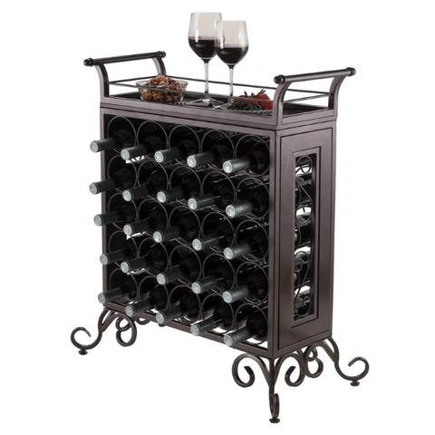 Winesome 25-Bottle Wine Rack Removable Tray