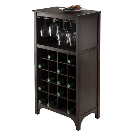 Winesome Ancona Modular Wine Cabinet with Glass Rack & 20-Bottle