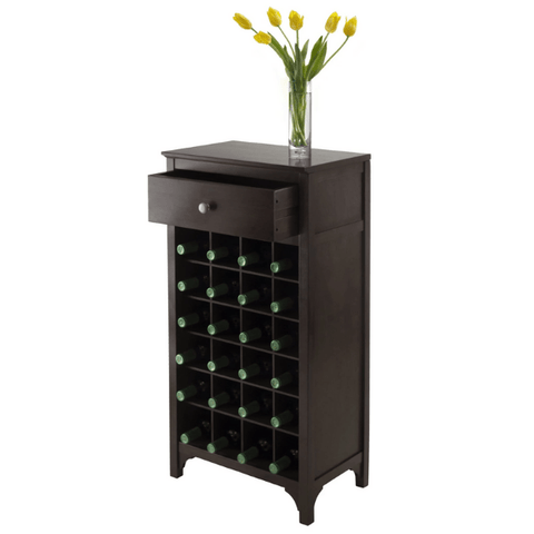 Winesome Ancona Modular Wine Cabinet with One Drawer & 24-Bottle