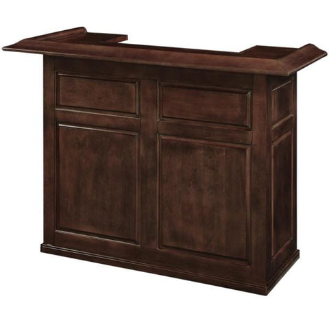 RAM Game Room 60' Bar Footrail Bar Cabinet in Black / Chestnut / English Tudor / Cappuccino - Black Out