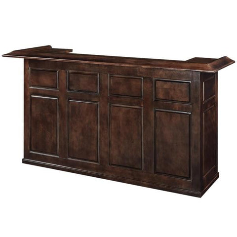 Image of RAM Game Room 84' Solid Wood & Veneer mix Bar - Black Out
