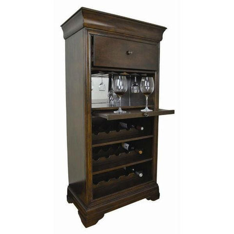 RAM Game Room Bar Cabinet W/ Wine Rack - Black Out