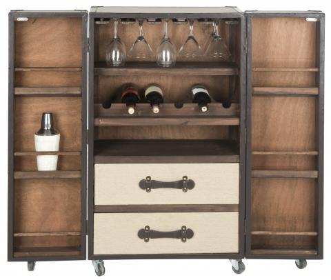 Image of Safavieh Grayson Classic Bar Cabinet - Black Out