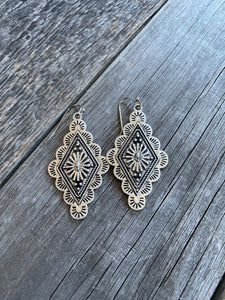 The Diamond Concho Earrings