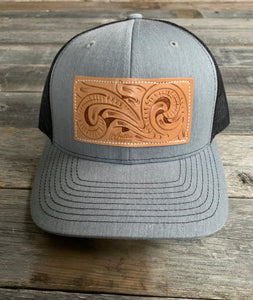 Hand Tooled Patch Hat
