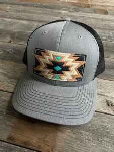 The Black & Turquoise Aztec Hat