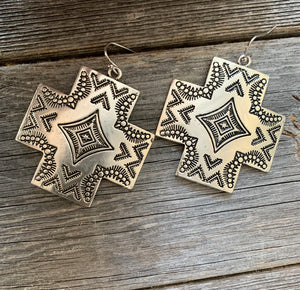 Antique Aztec Earrings