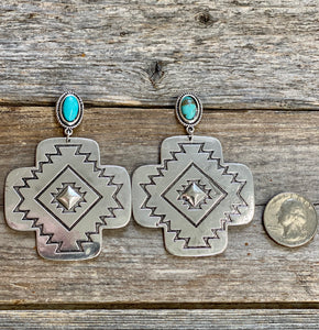 The Big Timber Aztec Earrings