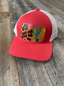 The Coral Leopard Sunset Hat