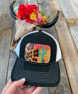The Black Leopard Sunset Hat