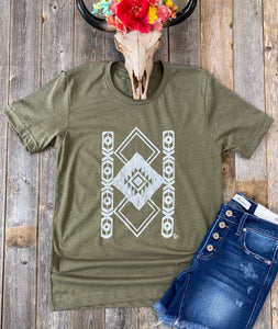The Olive Aztec T-Shirt