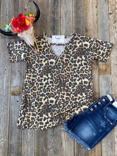 The Keyhole Leopard Top