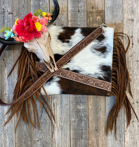 The Amish Cowhide Handbag