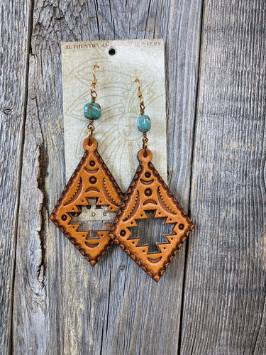 The Aztec Cut out Earrings