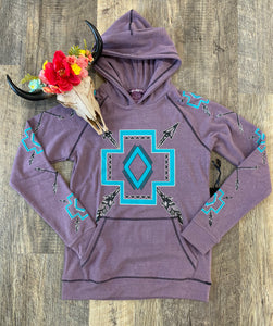 The Purple Aztec Sweatshirt