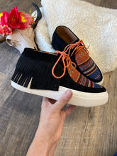 The Sarape Leather Moccasin Sneaker