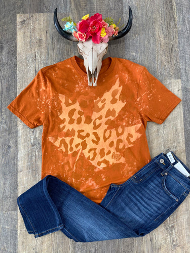 The Bleached Leaf Cheetah Print T-Shirt