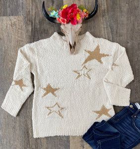 The Metallic Star Sweater